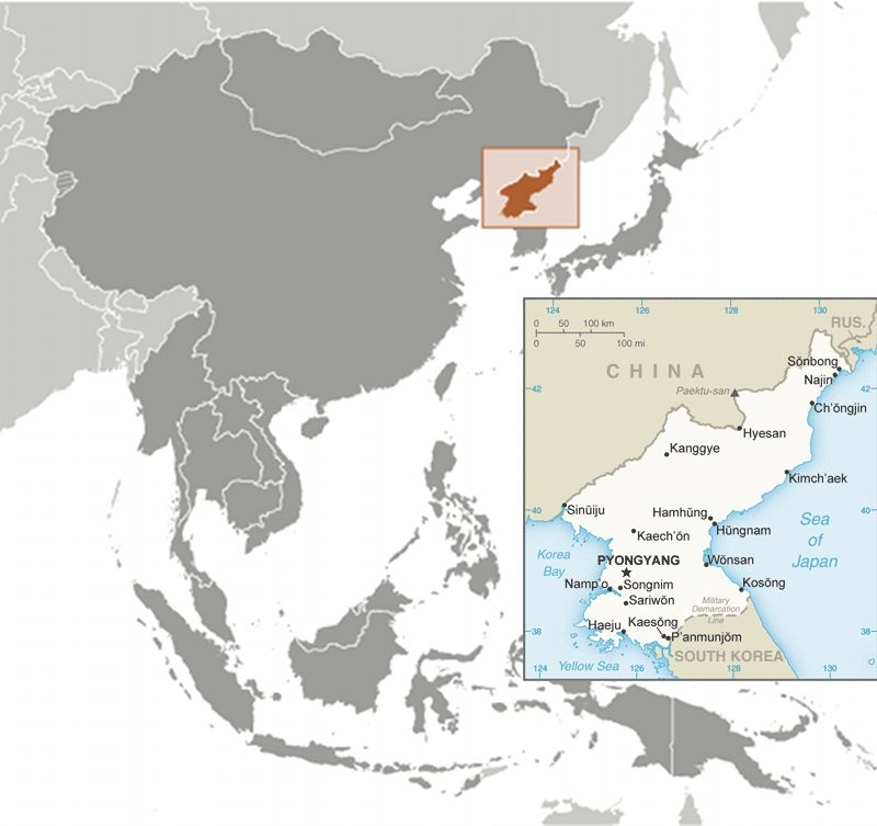 North Korea (DPRK) map