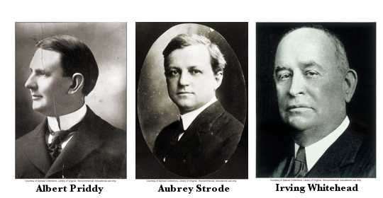 3 degenerates: Priddy, Strode, and Whitehead